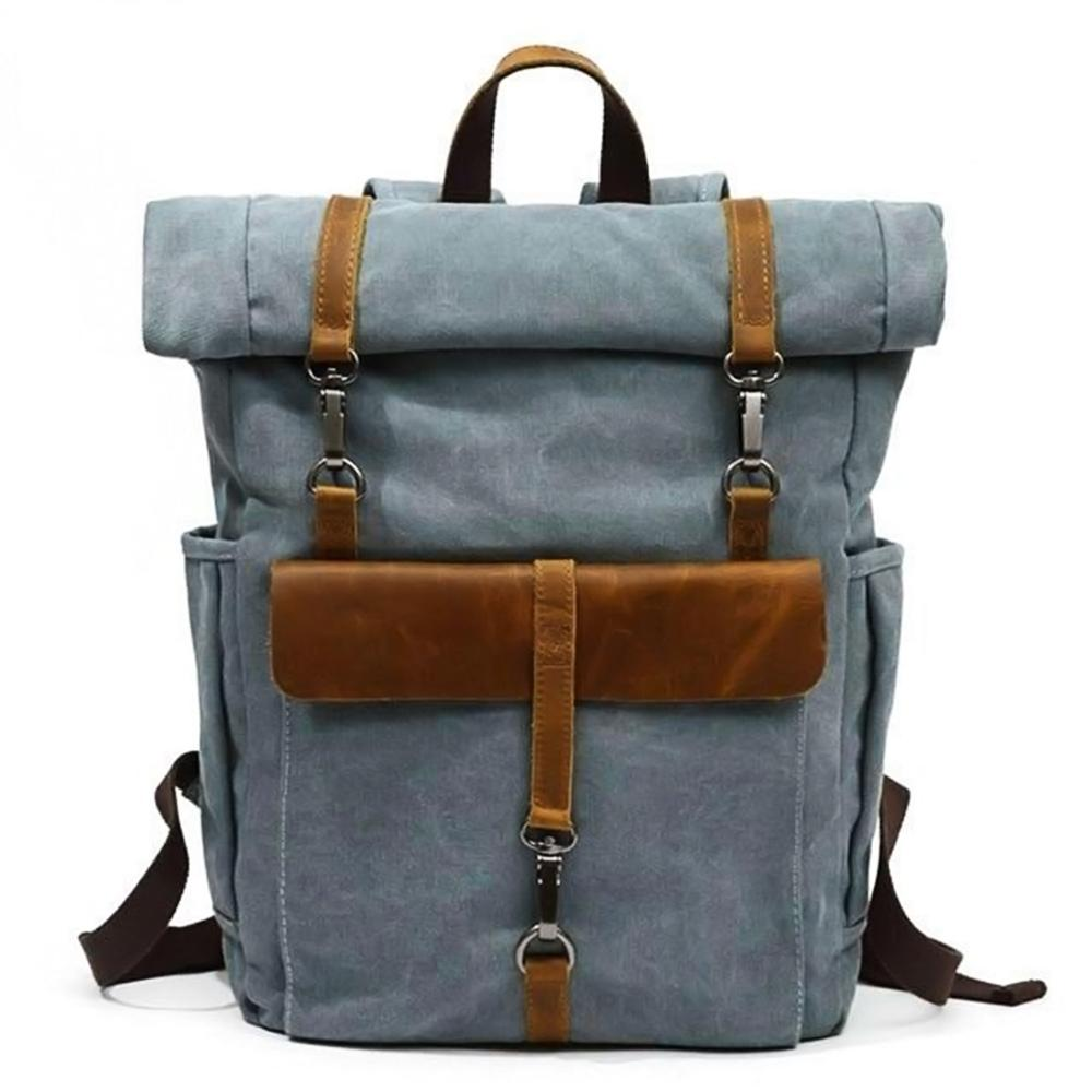 Retro canvas rucksack